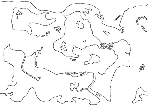 Map, b&w lines